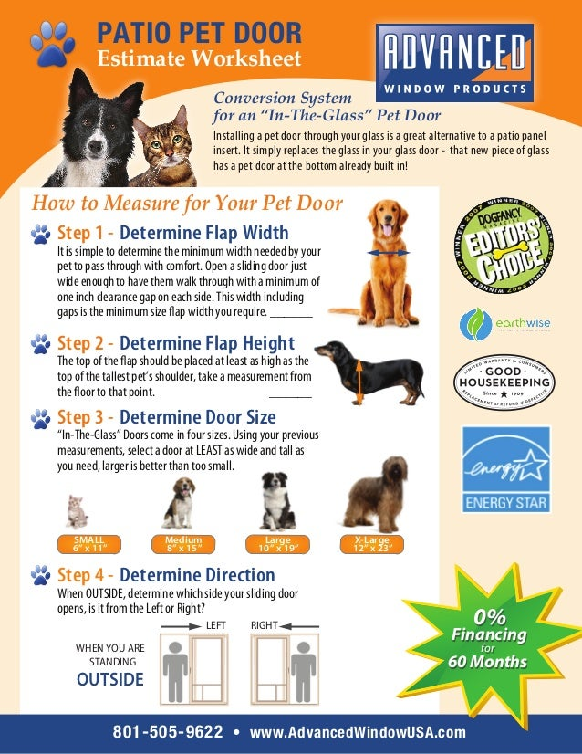 Worksheet How To Measure Your Pet For A Sliding Glass Pet Door