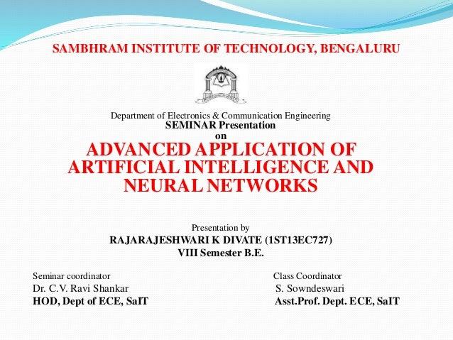 SAMBHRAM INSTITUTE OF TECHNOLOGY, BENGALURU Department of Electronics & Communication Engineering SEMINAR Presentation on ...