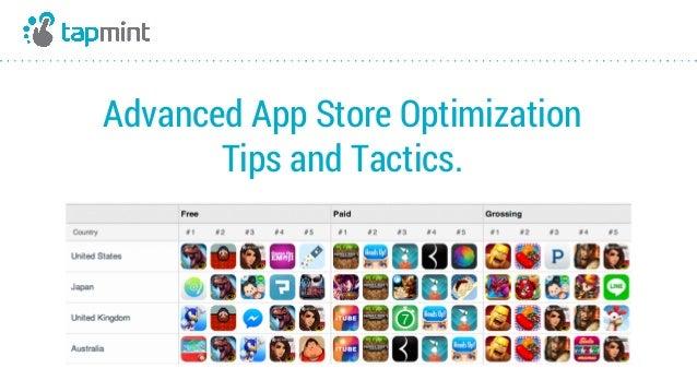 Advanced App Store Optimization Tips and Tactics.