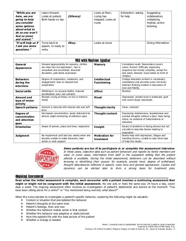 Mental Health Assessment Form  Mental Health Tips