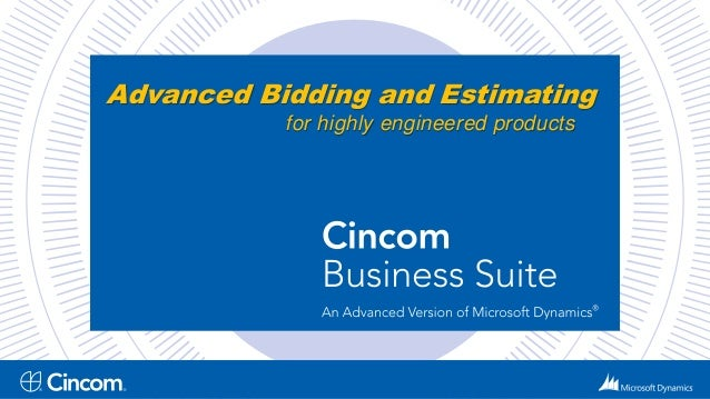 Advanced Bidding and Estimating  for highly engineered products