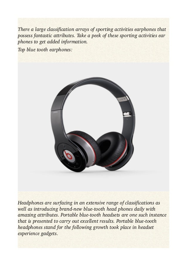 Advanced blue tooth earphones, sporting activities ear phones series purchasing tips to aid you while acquiring Slide 2