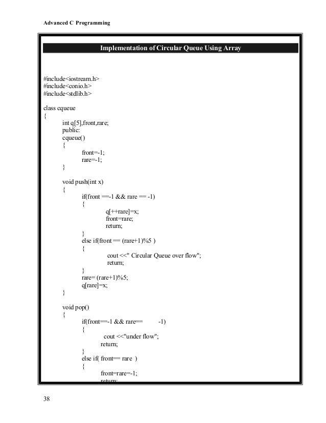 C++ program to implement circular queue using array