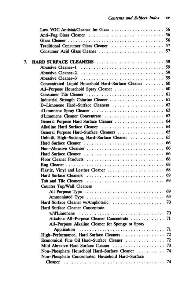 Advanced Cleaning Product Formulations Vol 4