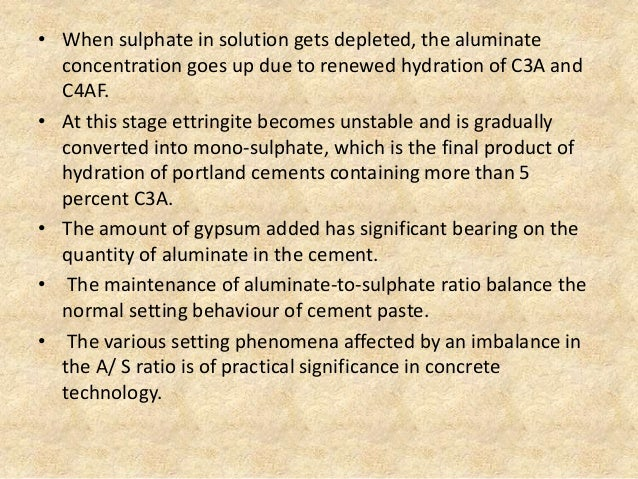 Cement C3a C4af And Hydration In : Advanced concrete technology