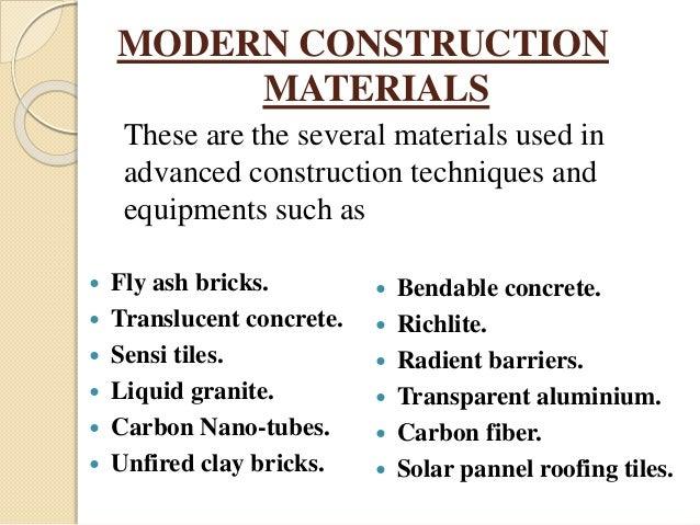 advance construction techniques seminar ppt