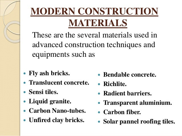 advance construction techniques Advanced construction methods 2 research the structure of the course will consist of self-directed research based on literature, contact to the industry.
