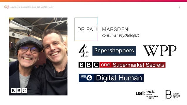 Fashion Marketing - Advanced Consumer Behaviour Class Slide 2