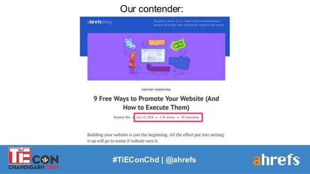 #TiEConChd   @ahrefs Our contender: