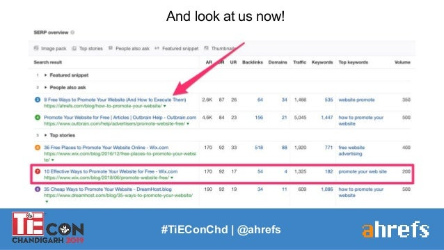 #TiEConChd   @ahrefs And look at us now!