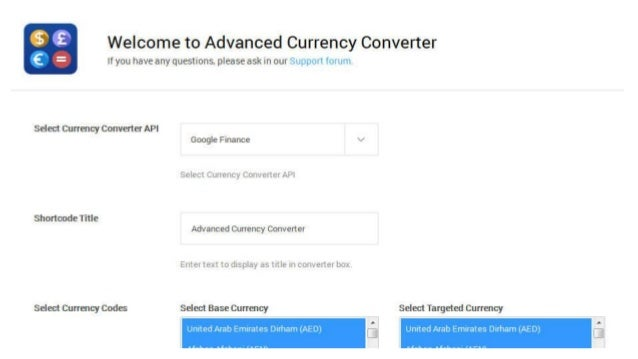 Advanced Currency Converter – WordPress Plugin