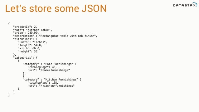 43 lets store some json