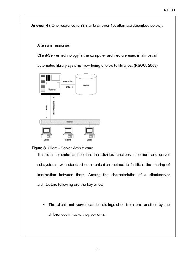 assignment in client server architecture information technology essay Hardware and software in the enterprise  cargo's information technology (it)  client/server and peer-to-peer computing facilitate.