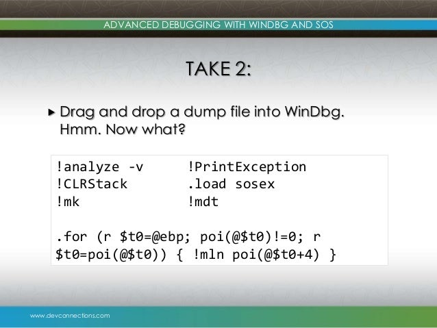 Advanced Debugging with WinDbg and SOS
