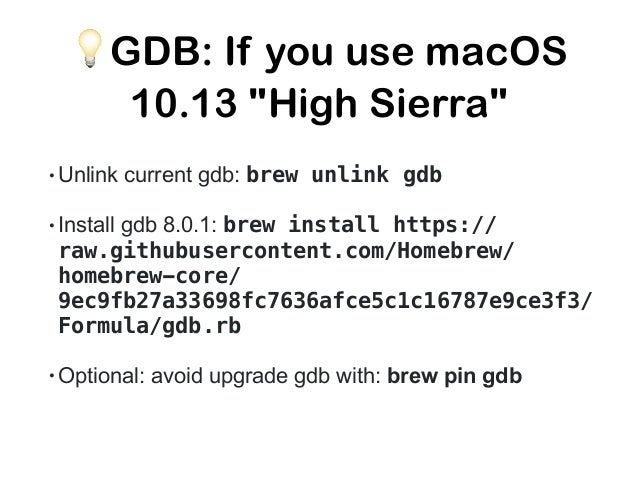 "@a_soldatenko 💡 GDB: pretty print! go build -ldflags=-compressdwarf=false - gcflags=all=""-N -l"" -o hello hello.go ➜ go git..."