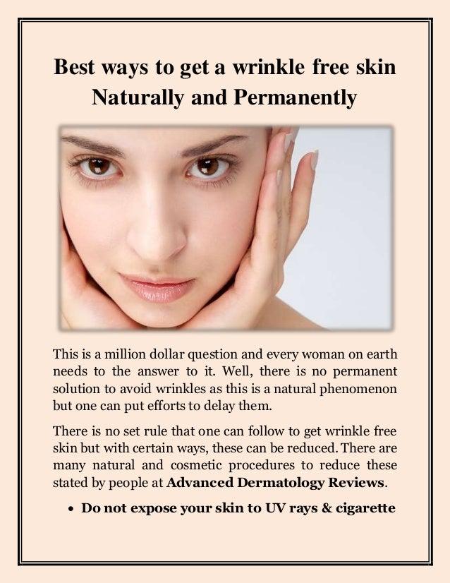 Best way to avoid wrinkles