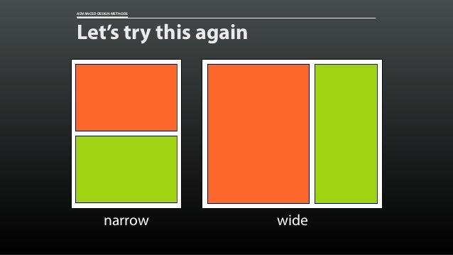 ADVANCED DESIGN METHODS Tweak at specific breakpoints /*2column*/ @media(min-width:28.75em){ .event{  flex:...