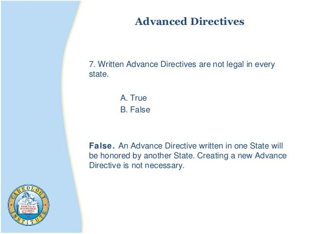Why Are Advance Directives Legally Important?