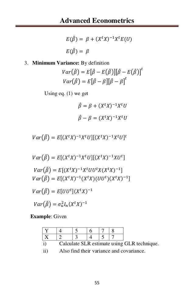 Advanced Econometrics By Sajid Ali Khan Rawalakot 0334 5439066