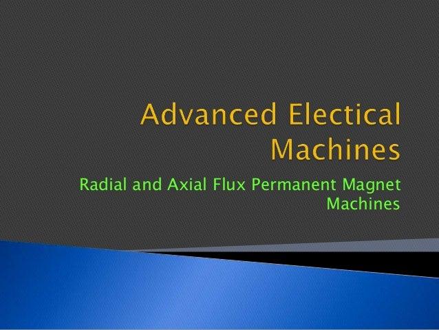 Advanced electical machines
