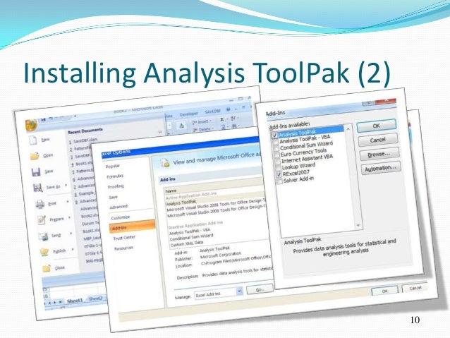 Installing Analysis ToolPak (2)                                  10