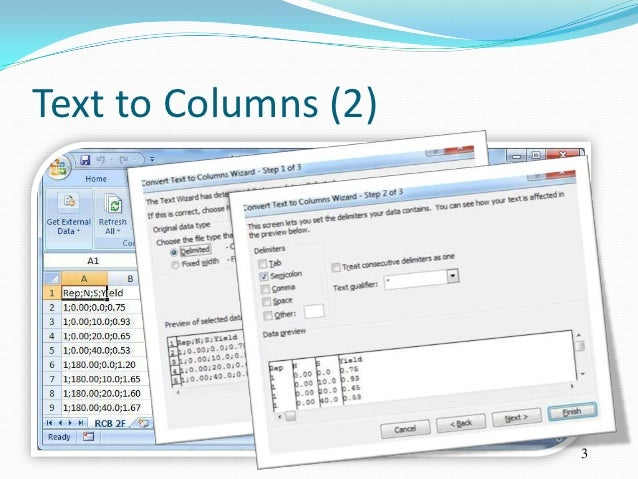 Text to Columns (2)                      3