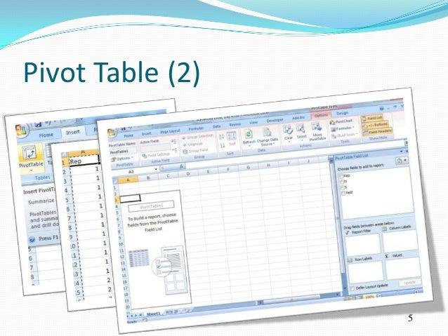 Pivot Table (2)                  5