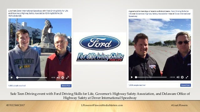 Safe Teen Driving event with Ford Driving Skills for Life, Governor's Highway Safety Association, and Delaware Office of H...