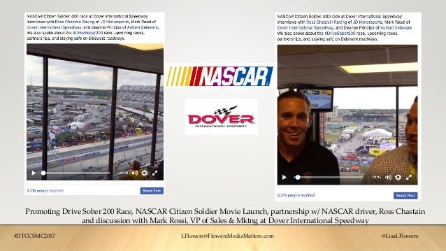 Promoting Drive Sober 200 Race, NASCAR Citizen Soldier Movie Launch, partnership w/ NASCAR driver, Ross Chastain and discu...