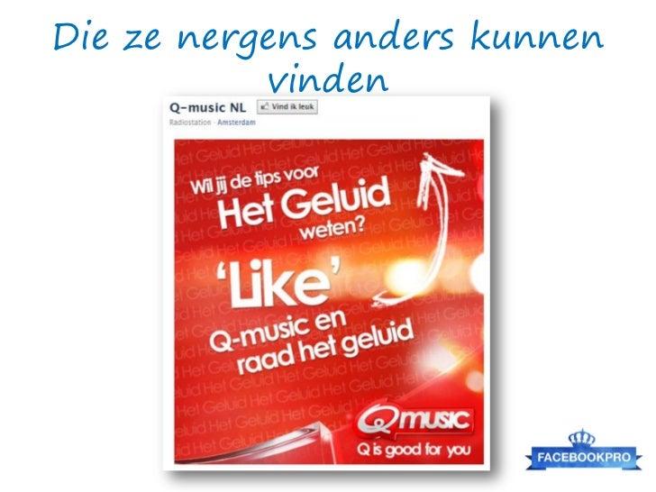 FB advertising vs. AdWords       Facebook advertising is geschikt voor user /fan     acquisition, verhogen awareness & re-...