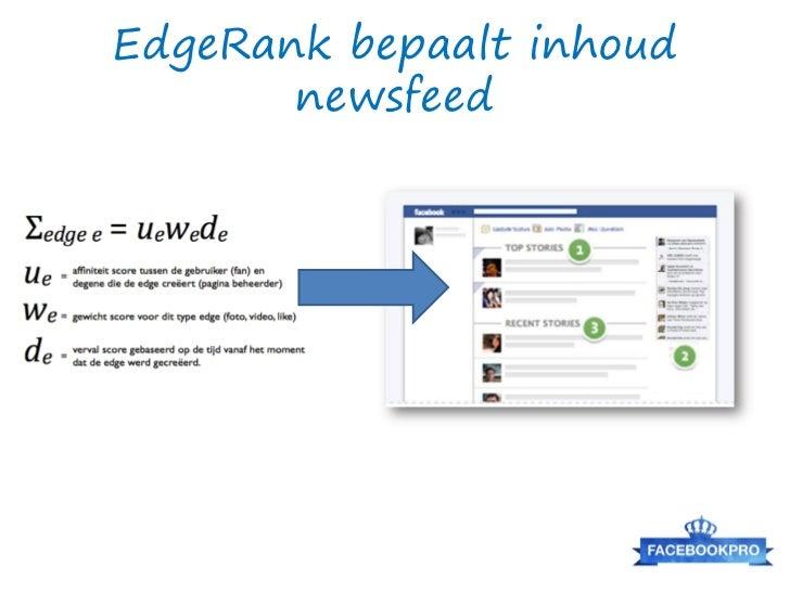 Facebook is geen Twitter!Twitter posts =geen interactie =lage EdgeRank =klein bereik =geen resultaat
