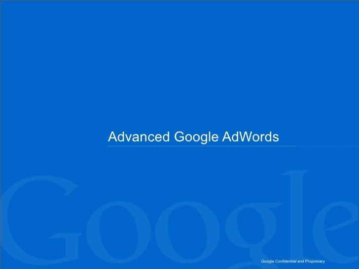 Advanced googleadwords