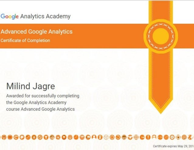 Certificate Of Completion Advanced Google Analytics