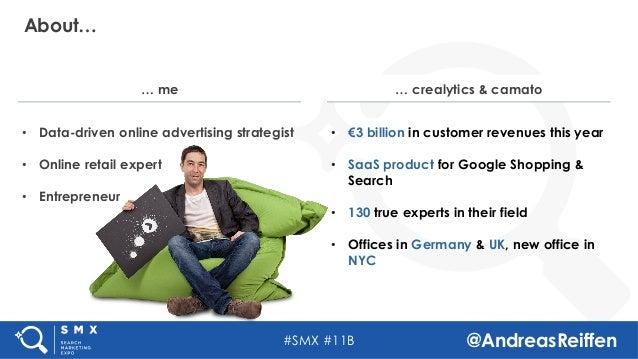 #SMX #11B @AndreasReiffen About…  • Data-driven online advertising strategist • Online retail expert • Entrepreneur  ...