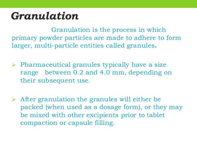 Advanced granulation technology