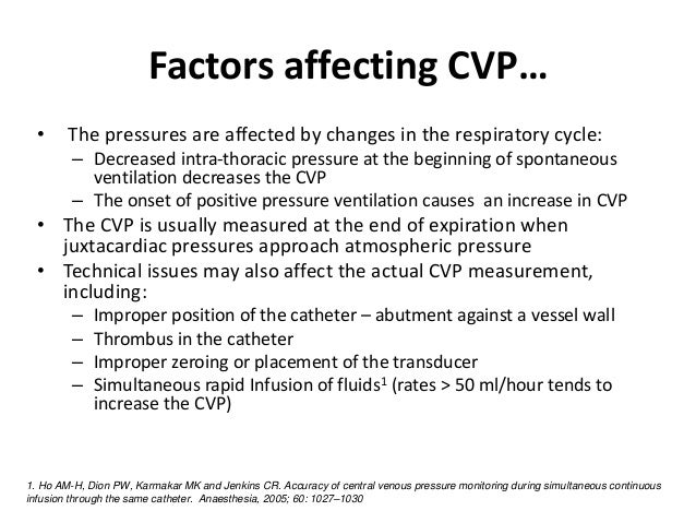 exercises and problems cvp Central venous pressure (cvp), an estimate of right atrial pressure, has been  filling pressures are associated with interpretive problems in critically ill people, 22  during exercise) or in a patient with normal cardiac function and decreased .