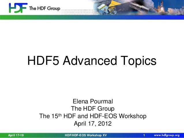 Advanced HDF5 Features