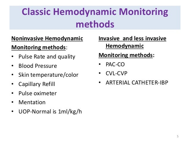 hemodynamic