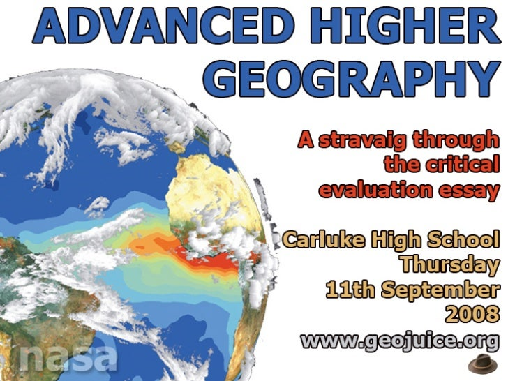 advanced higher geography essay examples