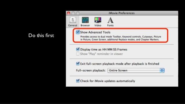 Advanced iMovie Techniques 2013
