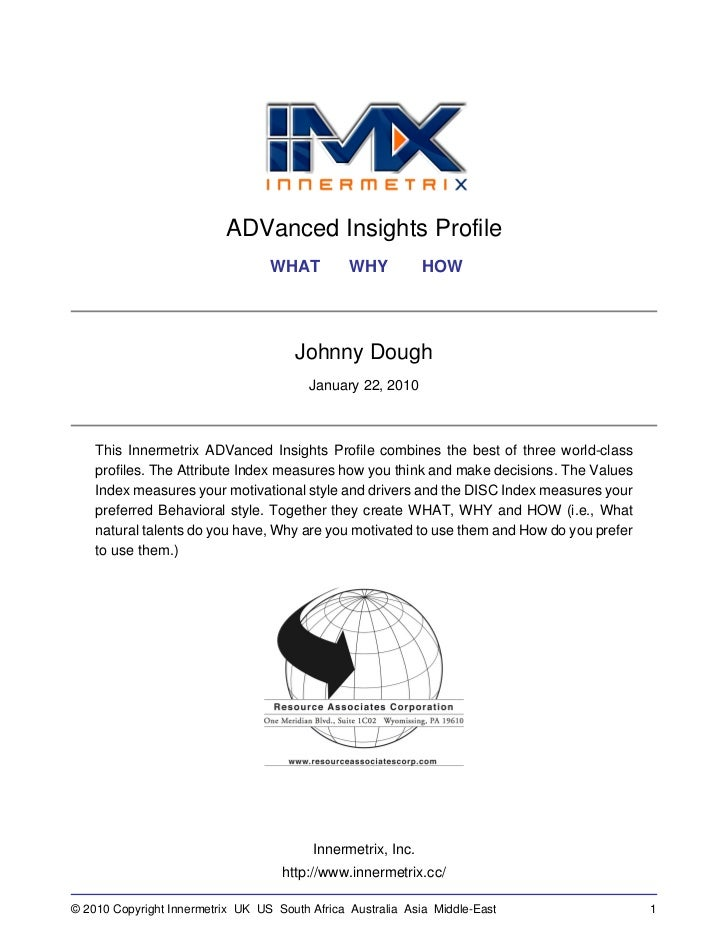 ADVanced Insights Profile                                  WHAT          WHY           HOW                                ...