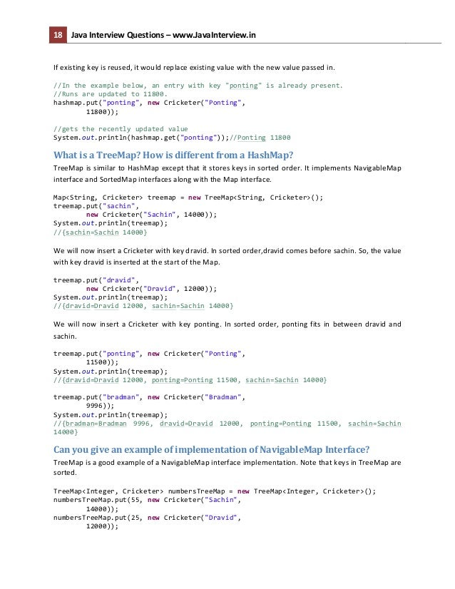 ... 18. 18 Java Interview Questions ...