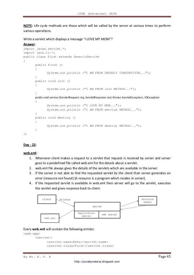 Kv Rao Java Notes Pdf