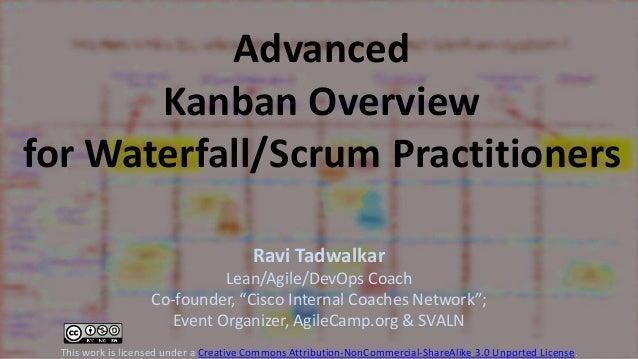 "Advanced Kanban Overview for Waterfall/Scrum Practitioners Ravi Tadwalkar Lean/Agile/DevOps Coach Co-founder, ""Cisco Inter..."