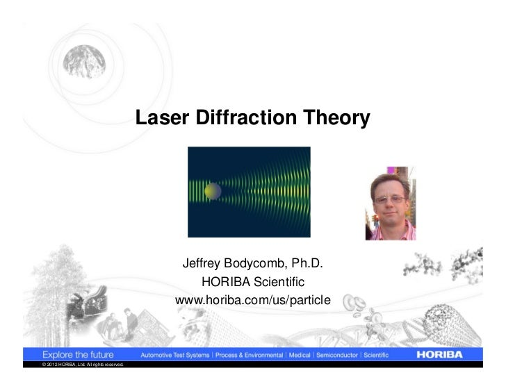 Laser Diffraction Theory                                                Jeffrey Bodycomb, Ph.D.                           ...