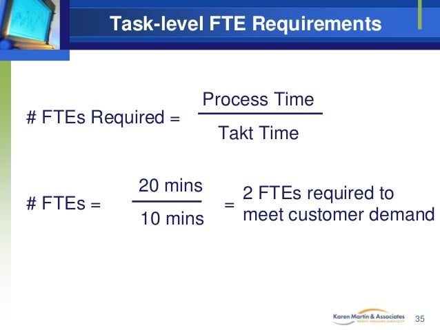 Task-level FTE Requirements Process Time