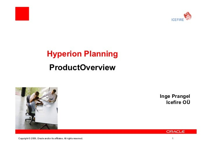 Hyperion Planning                                ProductOverview                                                          ...