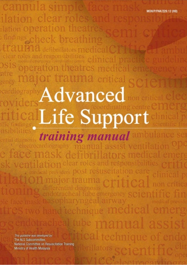 advanced life support manual 2012 rh slideshare net ACLS Provider Manual 90 1038 BLS for Health Care Providers Student Manual Includes Pocket Reference Card