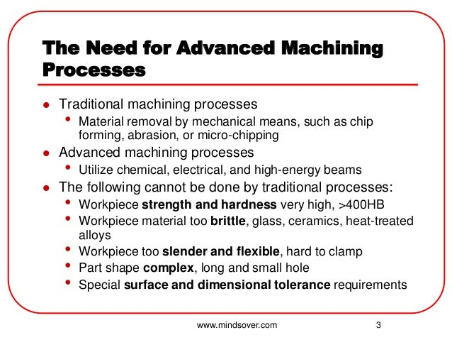 Advanced Machining Processes Unconventional Machining