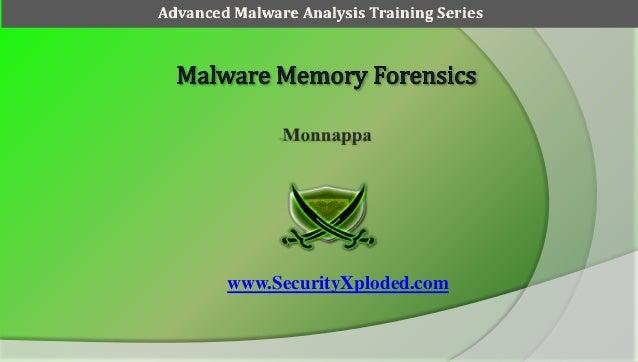 www.SecurityXploded.com Advanced Malware Analysis Training Series